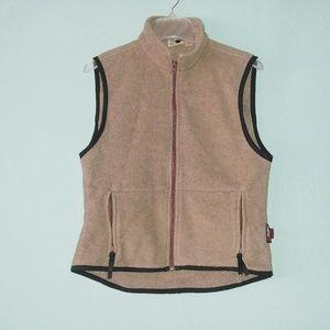 Woolrich Vintage Brown Fleece Vest Medium
